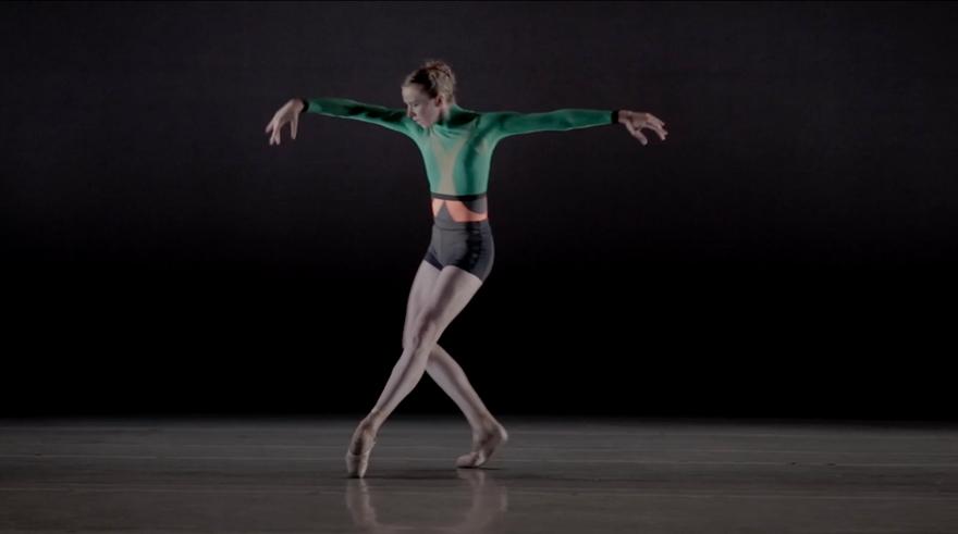 Izabela Szylinska with Emery LeCrone Dance for MONROWE Magazine